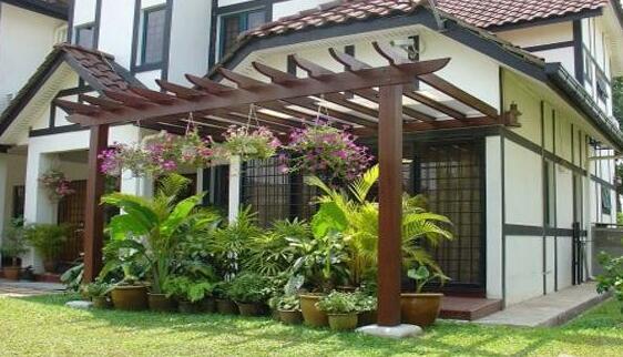 防腐木花架的作用有哪些?